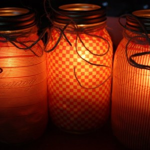 Canning Jar Candle Holders DIY
