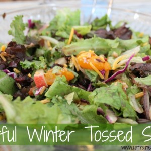 Winter Salad with Mixed Greens
