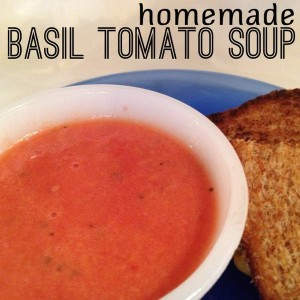 Homemade Basil Tomato Soup