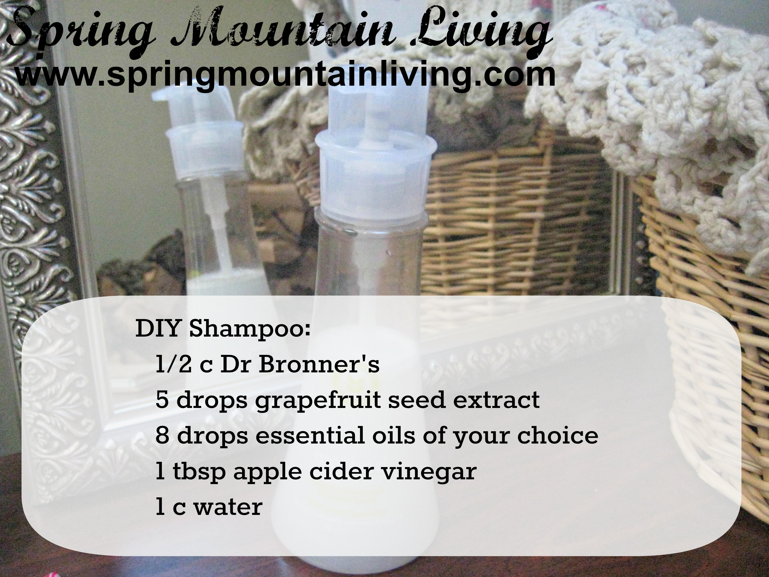 Natural Hair Care – DIY Shampoo Recipe