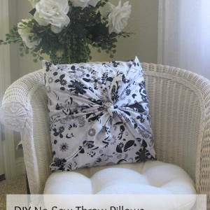 Make a Decorative Pillow with Simple No-Sew Techniques