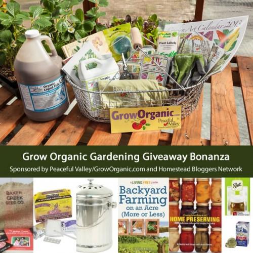 Grow Organic Gardening Giveaway Bonanza
