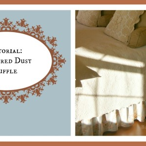 Sewing tutorial: Gathered Dust Ruffle