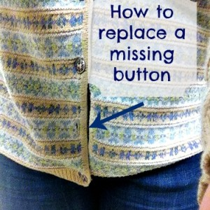 Mending: How to Replace a Missing Button