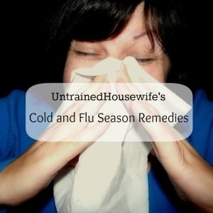 UntrainedHousewife's Cold & Flu Season Remedies