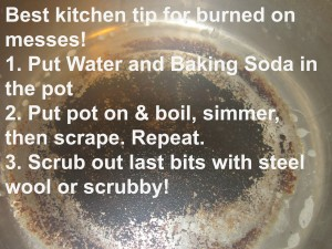 Clean out Your Burned on Messes with Baking Soda