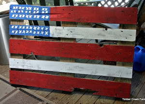 Re-purpose a Pallet into an American Flag