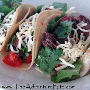 Applewood Smoked Shredded Beef Tacos