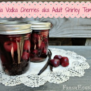 Vanilla Vodka Cherries aka Adult Shirley Temples