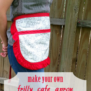 How to Make a Ruffled Apron in 20 Minutes
