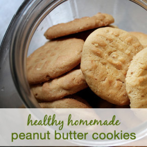Healthy Homemade Peanut Butter Cookie Recipe