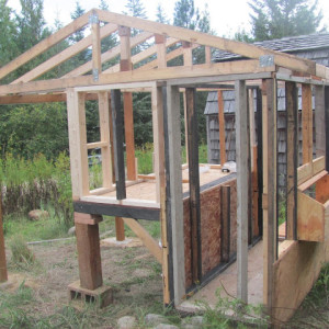 Building a chicken coop (with re-purposed wood)