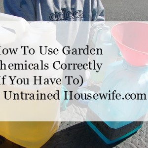 How to Use Chemicals Correctly if you Have to