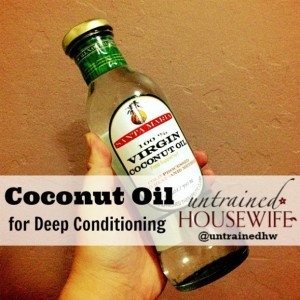 Coconut Oil for Deep Conditioning
