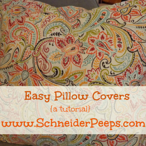 Recovering pillows the easy way