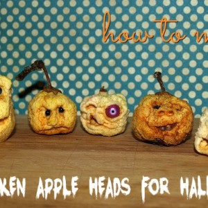 DIY Halloween Shrunken Apple Heads