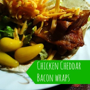 How to Make Chicken Cheddar Bacon Wraps