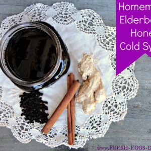 Homemade Elderberry Honey Cold Syrup