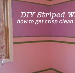 DIY Painted Striped Wall