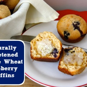 Naturally Sweetened Whole Wheat Blueberry Muffins