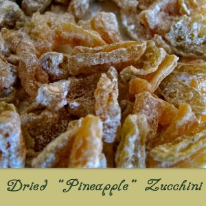 "Dried ""Pineapple"" Zucchini"