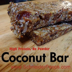 Coconut Protien Bar
