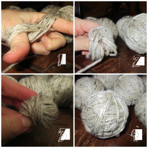 DIY Felted Wool Dryer Balls