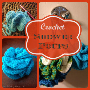 DIY Crocheted Shower Poufs
