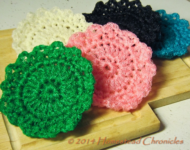 Crocheted Dish Scrubbie Pattern Homestead Bloggers Network