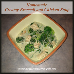 Homemade Creamy Broccoli and Chicken Soup