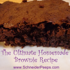 The Ultimate Homemade Brownie Recipe