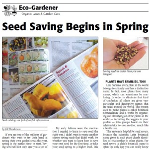 ACRES USA: Seed Saving Begins in Spring