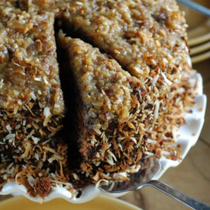 Toasted German Chocolate Cake