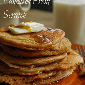 How To Make Pancakes From Scratch: No Refined Flour or Sugars!
