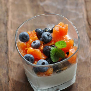 Coconut Panna Cotta With Fruit