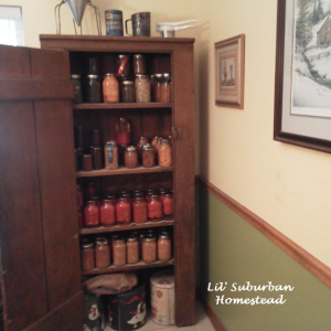 Primitive Canning Pantry Cupboard