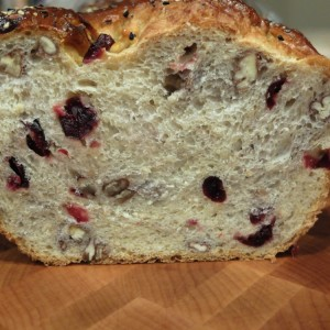 Sourdough Oatmeal Bread with Craisins and Pecans