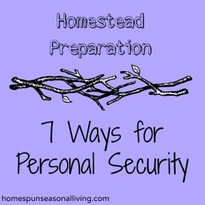 Homestead Preparation – 7 Ways for Personal Security