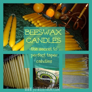 The Secret to Making Perfect Beeswax Taper Candles
