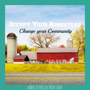 Occupy Your Homestead-Change Your Community