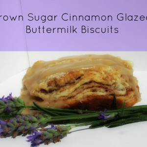 Brown Sugar Cinnamon Glazed Buttermilk Biscuits