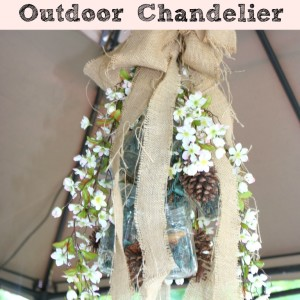 Mason Jar Outdoor Chandelier