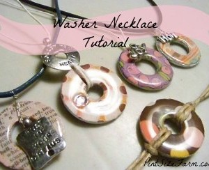 DIY Washer Necklace Tutorial