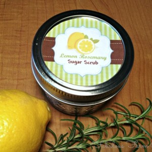 Rosemary-Lemon Sugar Scrub