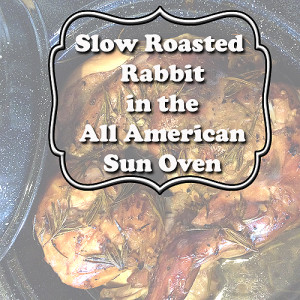 Slow Roasting Rabbit in the All American Sun Oven