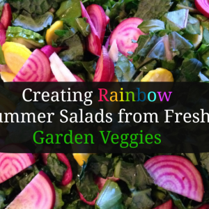 Creating Rainbow Summer Salads from Fresh Garden Veggies