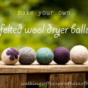 Make Your Own Felted Dryer Balls