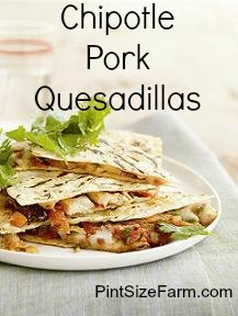 Chipotle Pork Quesadillas Recipe