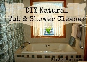 Homemade Natural Tub and Shower Cleaner – DIY