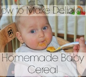 Healthy Homemade Baby Cereal Recipe